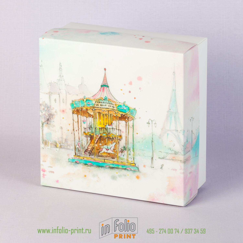 Коробка крышка-дно 16х16 из ламинированного плотного картона