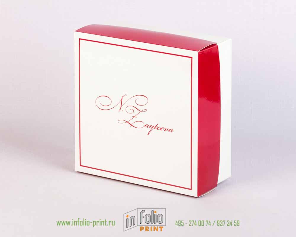 глянцевая коробка крышка-дно 16х16 розовый металлик