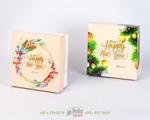 Новогодние коробки крышка-дно для подарков