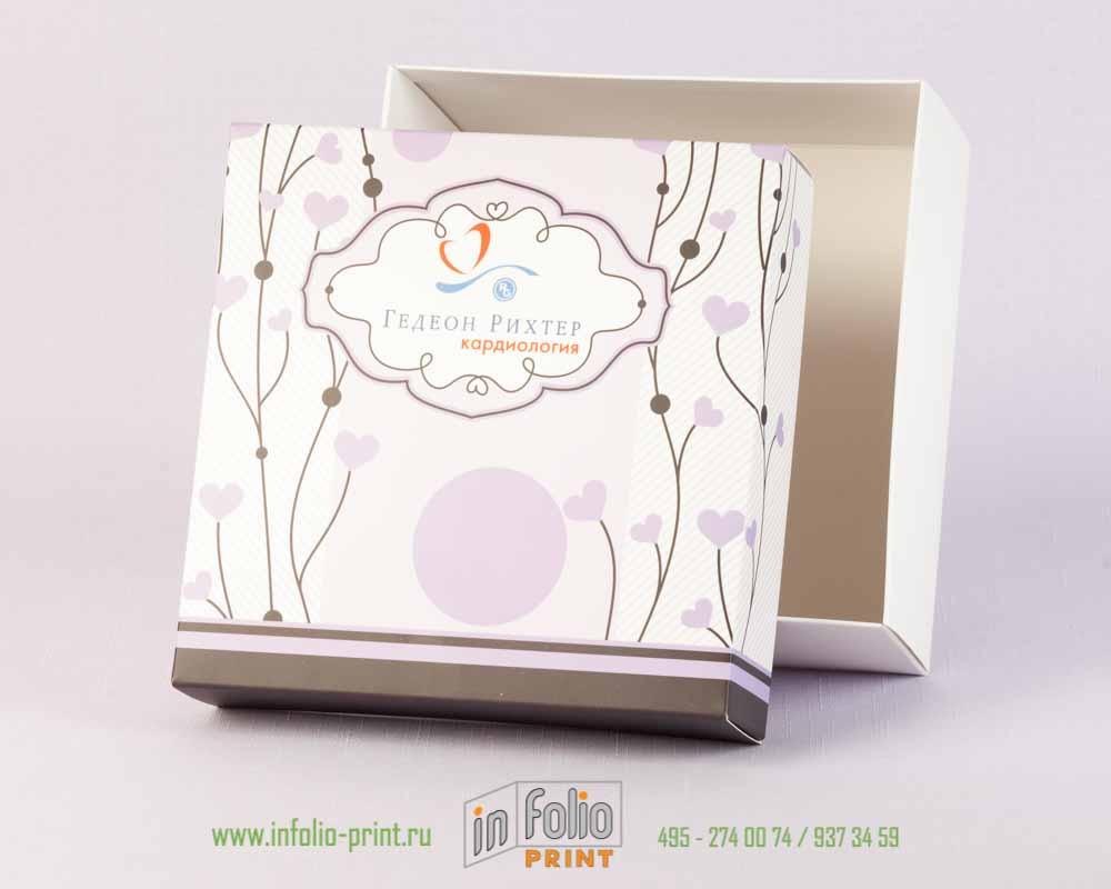 Коробка крышка дно для корпоративных подарков