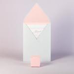 Свадебный конверт и бонбоньерка из одной коллекции бумаг
