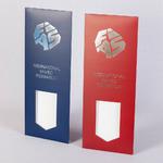 Упаковка для галстуков B-27 с матовой ламинацией и тиснением фольгой