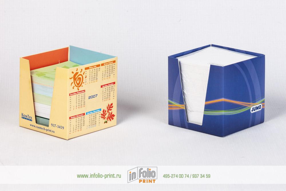 Блок для записей в картонной подставке