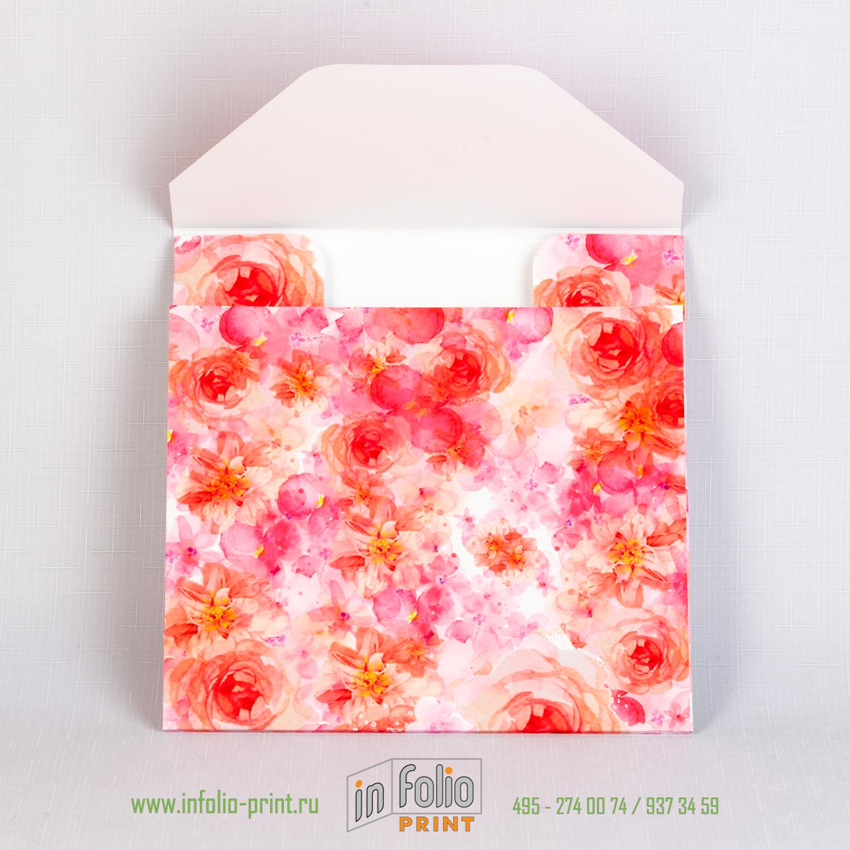 коробка для упаковки платка с цветочным принтом
