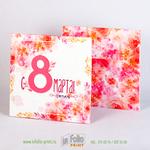 Упаковка для платка 26х26х5 с яркими цветами