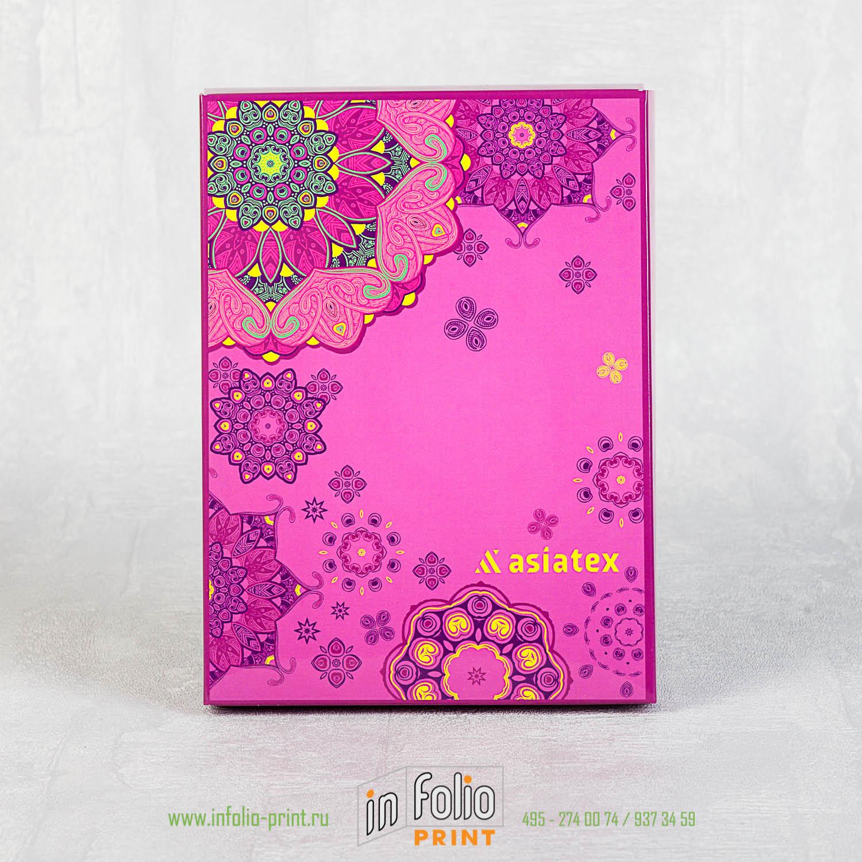 Подарочная упаковка для платка с глянцевой или матовой ламинацией
