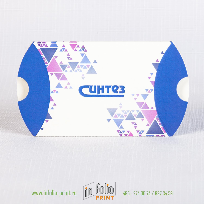 Маленькая коробка-пирожок 75х65х25