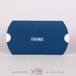 коробка пирожок для ювелирных украшений из королевско синего софт тача