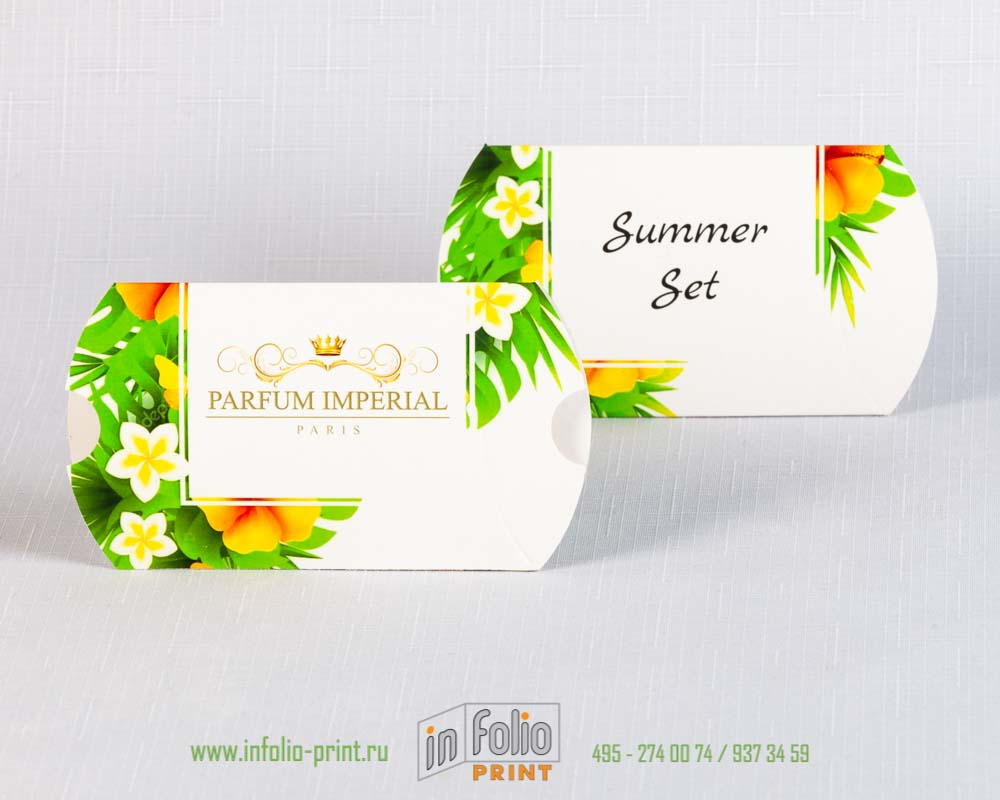Упаковка пирожок для весенней коллекции парфюма