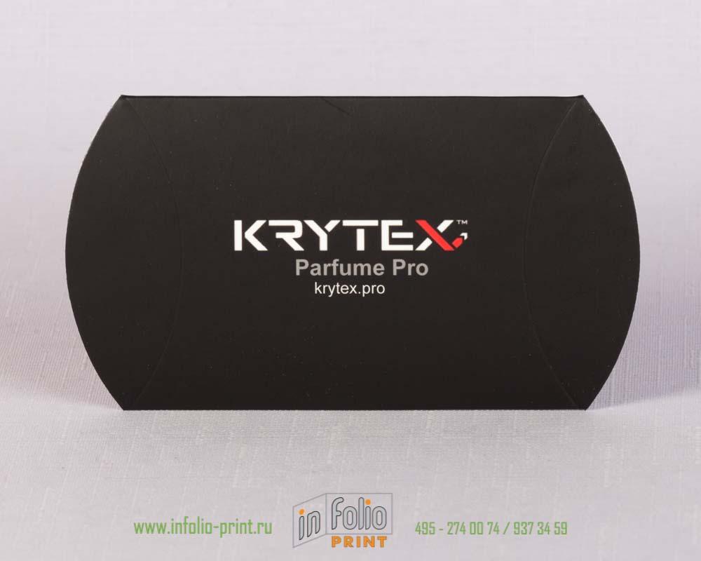 Упаковка черная с бархатной ламинацией