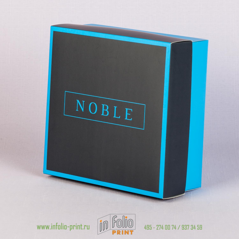 Коробка крышка-дно с матовой ламинацией и печати на крышке и дне