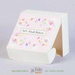 Коробка из картона с матовой ламинацией самосборная с ушками