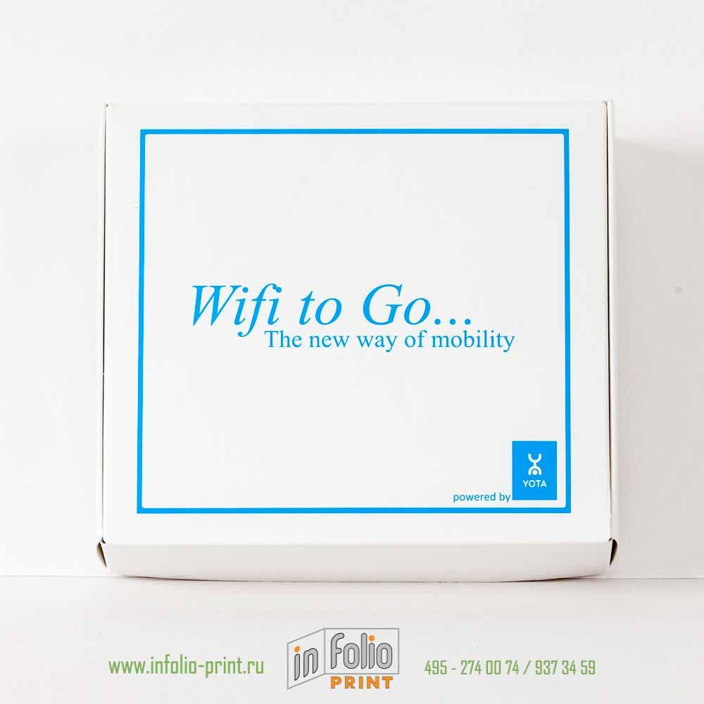Коробка для упаковки продукции с логотип с ушками