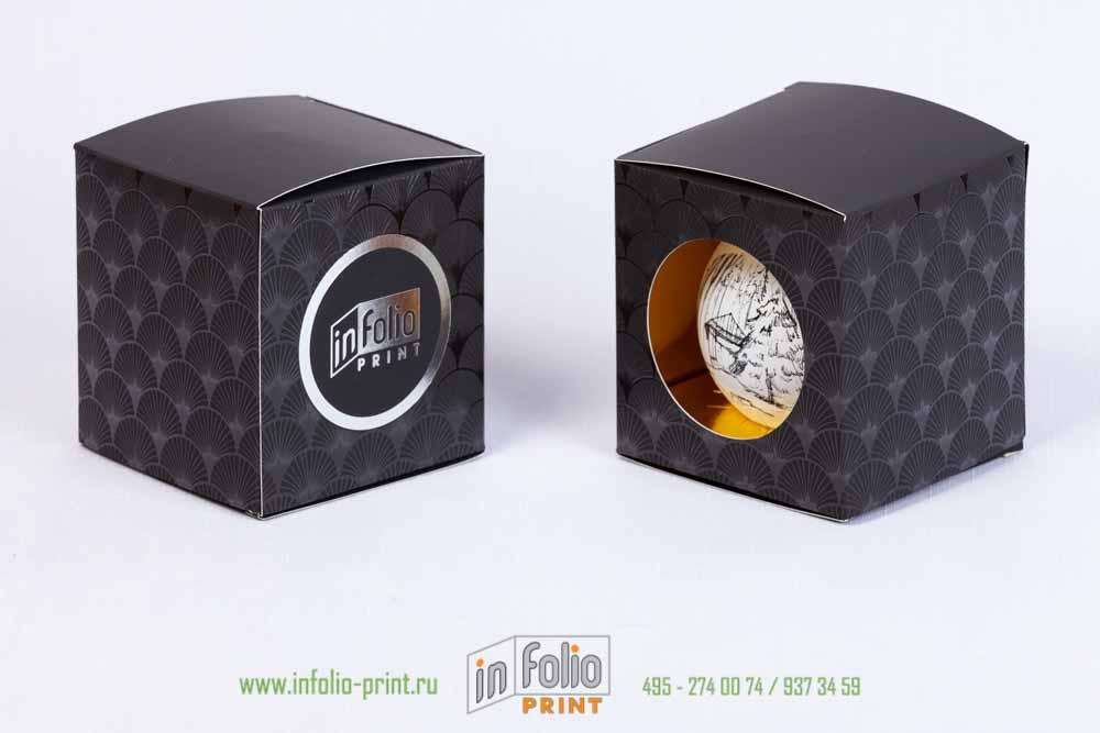 Черная упаковка софттач с золотом внутри