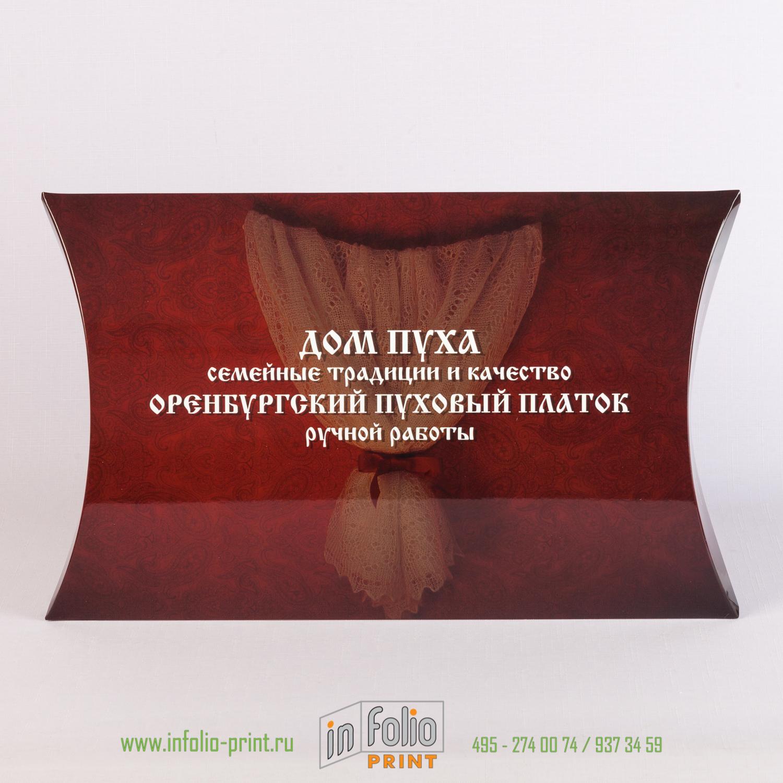 Большая коробка подушечка для оренбургского платка