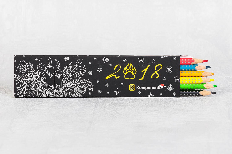 Коробочка подарочная для карандашей с логотипом
