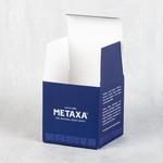 Плотная коробка из двойного картона с ламинацией и ложементом под стакан