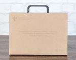 Папка портфель из крафт картона