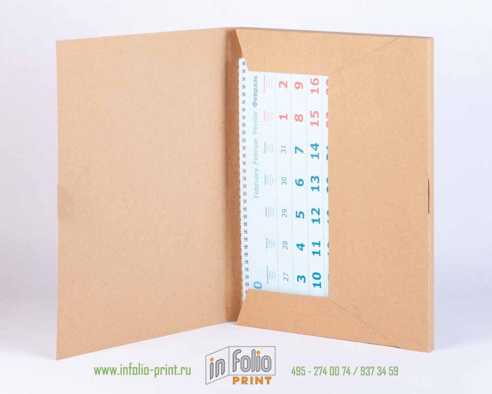 Упаковка из крафта для квартального календаря МИНИ