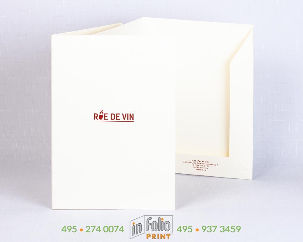 фирменная папка из дизайнерской бумаги с конгревным тиснением