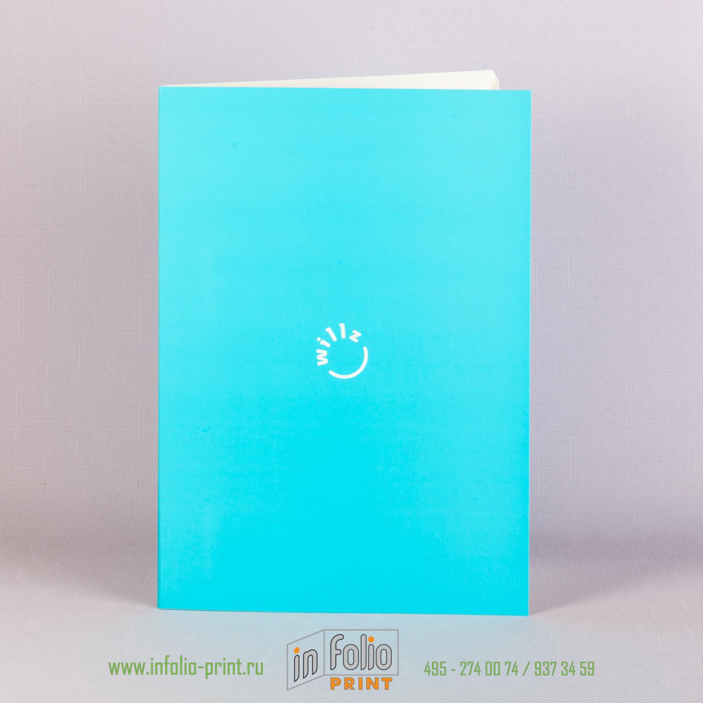 папка из картона с матовой ламинацией печать фирменным пантоном