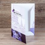 ОДносторонняя папка из плотного картона с лаком