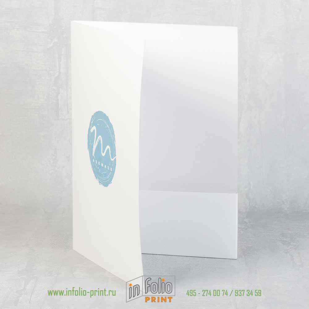 Папка с приклеевным карманом и местом для вставки визитной карточки