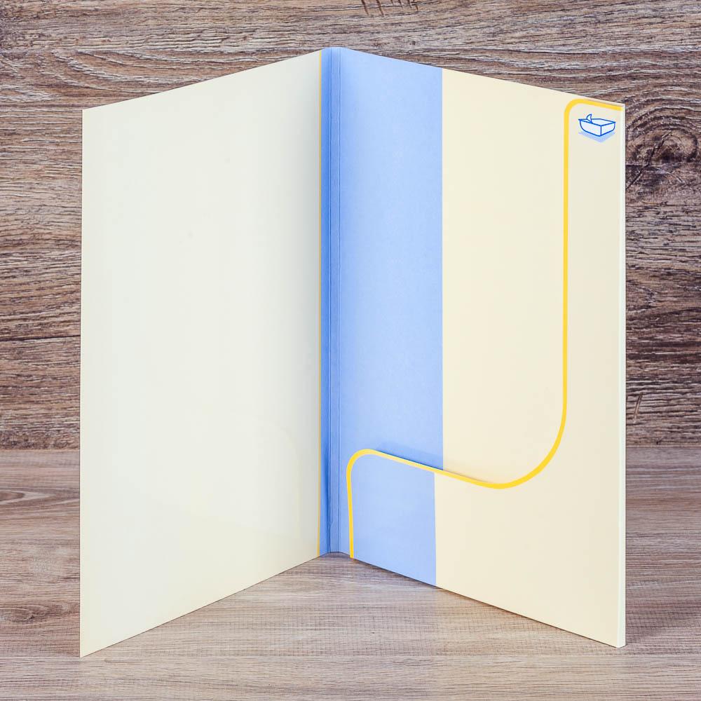 Цельнокроенная папка с одной склейкой ВИП