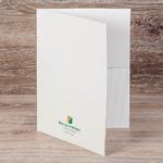 Папка из дизайнерской бумаги с печатью золотой краской