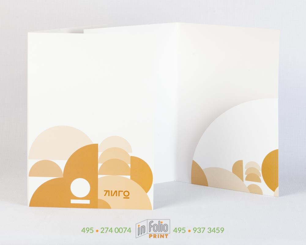 папка с покрытием софт тач