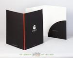 черная бархатная папка с красивым клапаном