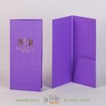 Чек бук для ресторана из дизайнерской бумаги с тиснением золотой фольгой