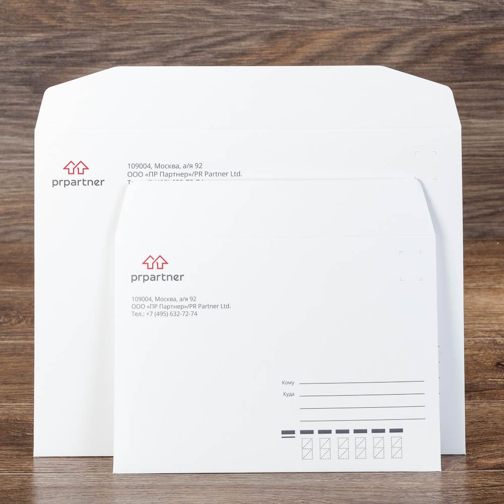 Конверт С4 и С5 из офстеной бумаги 160 г/м2 PR partner