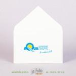 Конверт для маленького приглашения 110х70 из ламинированной бумаги