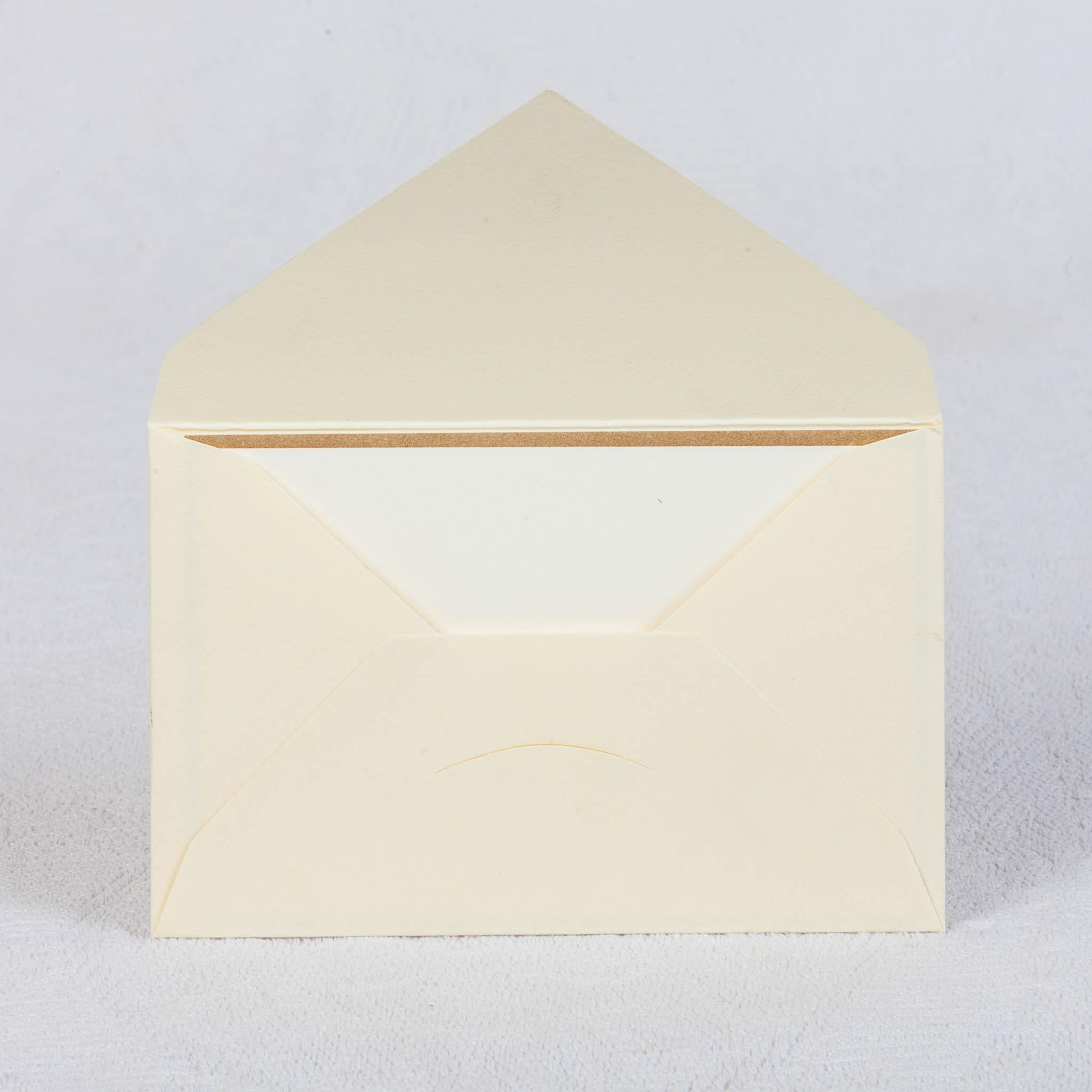 Конвертик для маленьких приглашений 110х70 из бумаги слоновая кость