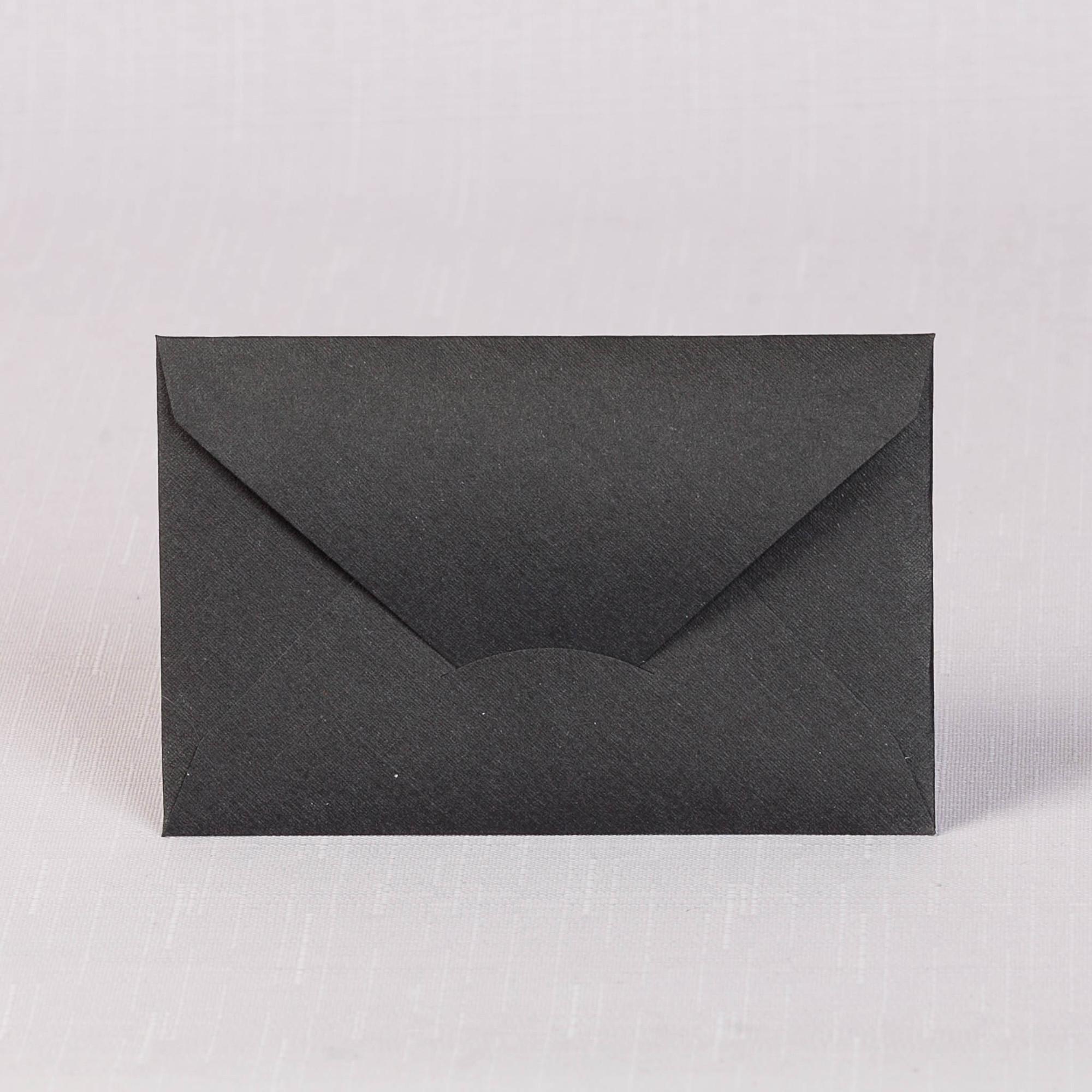 Конверт  110х70 черный лен