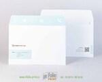 Конверт с5 из плотной бумаги и печатью на клапане