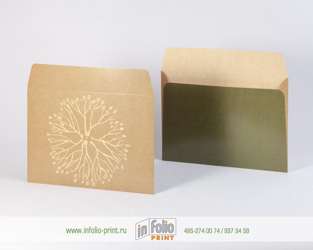 Плотный конверт из крафт картона С5