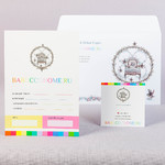 Набор открытка с конвертом А5, велюровая ламинация