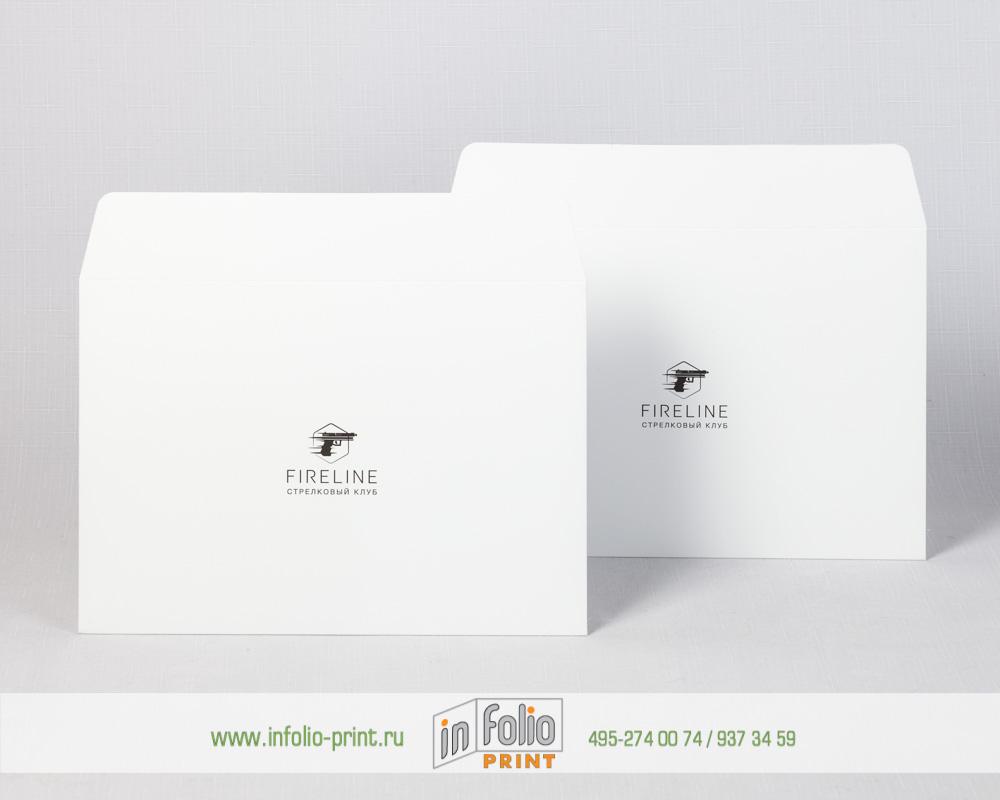 Белый матовый конверт с защитной плёнкой