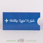 Свадебный конверт с билетом на самолет