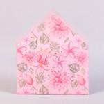 Конверт из розовой кальки С5 с треугольным клапаном