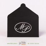 черный конверт для подарочной карты с серебрянным тиснением