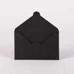 Конверт для визитной карточки черный 160 г/м2