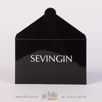 Ламинированный конверт глянцевой пленкой для подарочной карты