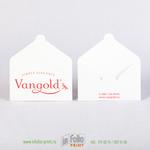 конверт для подарочной карты белый с ярко розовым логотипом