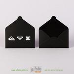 Черный матовые конверты для дисконтных карт