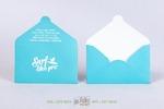 конверт для подарочной карты нежно-голубой