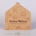 Конверт для подарочной карты из крафта