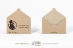 Конверт из крафт бумаги для подарочной карты